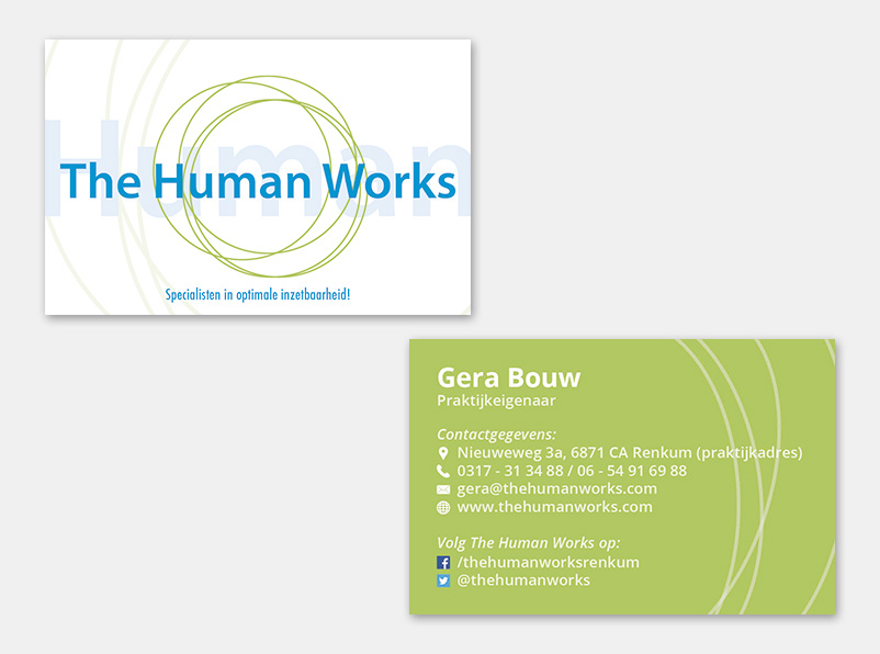 Visitekaartjes The Human Works | Ontwerp door Itsomi Media